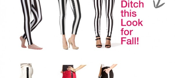 Vertical Stripe Black & White Leggings