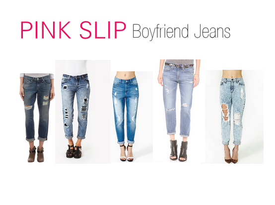 Pink Slip Fashion Boyfriend Jeans