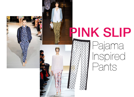 Pink Slip Fashion Pajama Inspired Pants